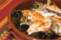 Chiles rellenos y gratinados especiales