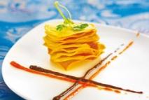 Chips de fabes con morcilla y chorizo