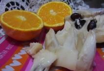 Receta de Chirimoyas con zumo de naranja