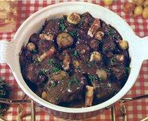 Receta de Civet de rebeco con setas de calabaza