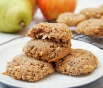 Cookies de avena y pera