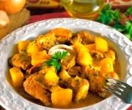 Receta de Cordero con patatas