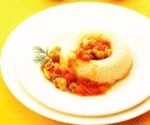 Corona de arroz con chirlas