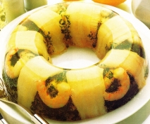 Corona de filetes de lenguado en gelatina