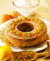 Corona de frutas confitadas