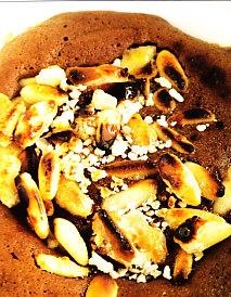 Coulant de chocolate con plátano caramelizado