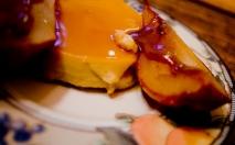 Crema de caramelo con peras