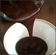 Crema de chocolate para cubrir tartas