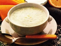 Crema de pepinos con yogur a la menta