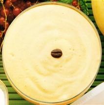 Crema de plátano y café