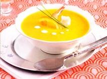 Crema de zanahorias a la naranja