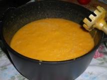Crema fría de calabaza y melón