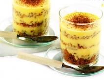 Crema helada con galleta crujiente