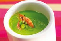 Receta de Crema tibia de judías verdes con quisquilla