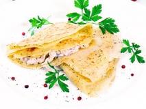 Receta de Crêpes de pollo con champiñones