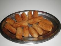 Croquetas de cocido con leche de soja