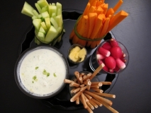 Receta de Crudités de verduras con salsa tártara
