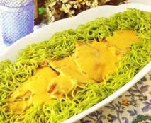 Culata de ternera con salsa de Gorgonzola