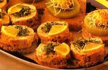 Discos de salmón ahumados