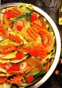 Ensalada con zanahorias, picante