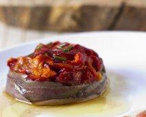 Ensalada de anchoas del Cantábrico con pimientos asados