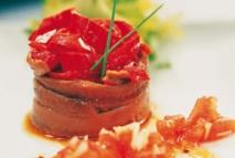 Ensalada de anchoas del Cantábrico y pimientos asados
