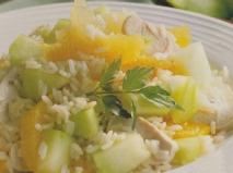 Receta de Ensalada de arroz con pavo y melón