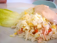 Ensalada de arroz y endibia