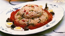 Ensalada de arroz y judías verdes
