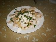 Ensalada de champiñones y queso