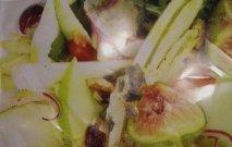 Ensalada de endibias con manzanas e higos