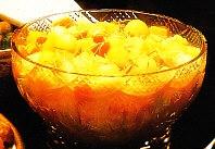 Ensalada de frutas al champagne