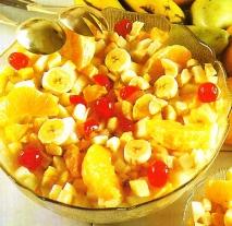 Ensalada de frutas al coñac