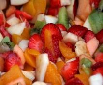 Ensalada de frutas al ron