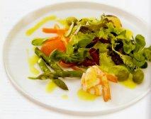 Receta de Ensalada de langostinos con vinagreta de limón y comino