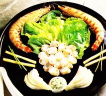 Receta de Ensalada de langostinos y queso