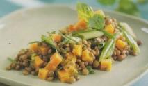 Ensalada de lentejas y zanahorias