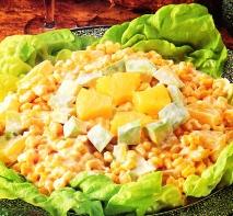 Ensalada de maíz y piña