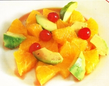 Ensalada de naranjas y aguacates
