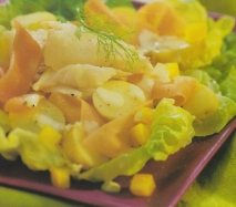 Receta de Ensalada de patatas y bacalao ahumado