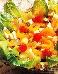 Ensalada de pollo con frutas