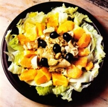 Receta de Ensalada de pollo con naranja