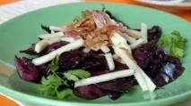 Ensalada de pollo, lombarda y palmitos