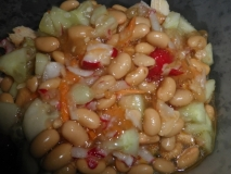 Ensalada de soja con vinagreta