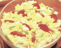 Ensalada mediterránea de pasta y salchichón