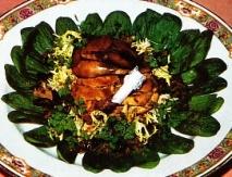 Receta de Ensalada tibia de perdiz y rovellones al vinagre de Banyuls
