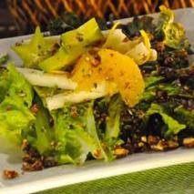 Ensalada verde con vinagreta al ajo