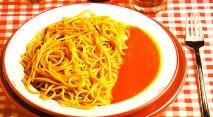 Espaguetis al ajillo con aroma de soja