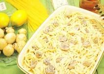 Espaguetis al roquefort