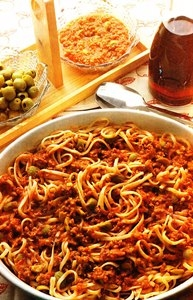 Receta de Espaguetis con aceitunas